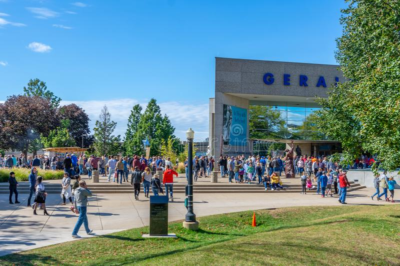 Gerald R Ford Presidential Library und Museum stockfotos