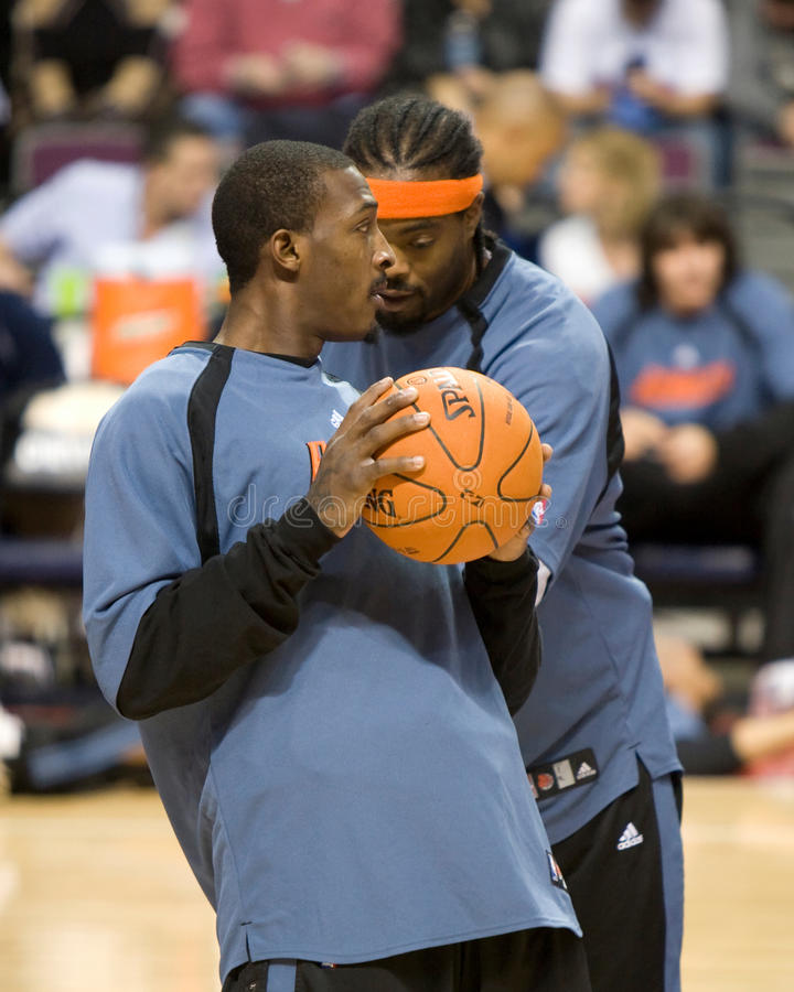 Gerald Wallace Warms Up royalty-vrije stock afbeelding