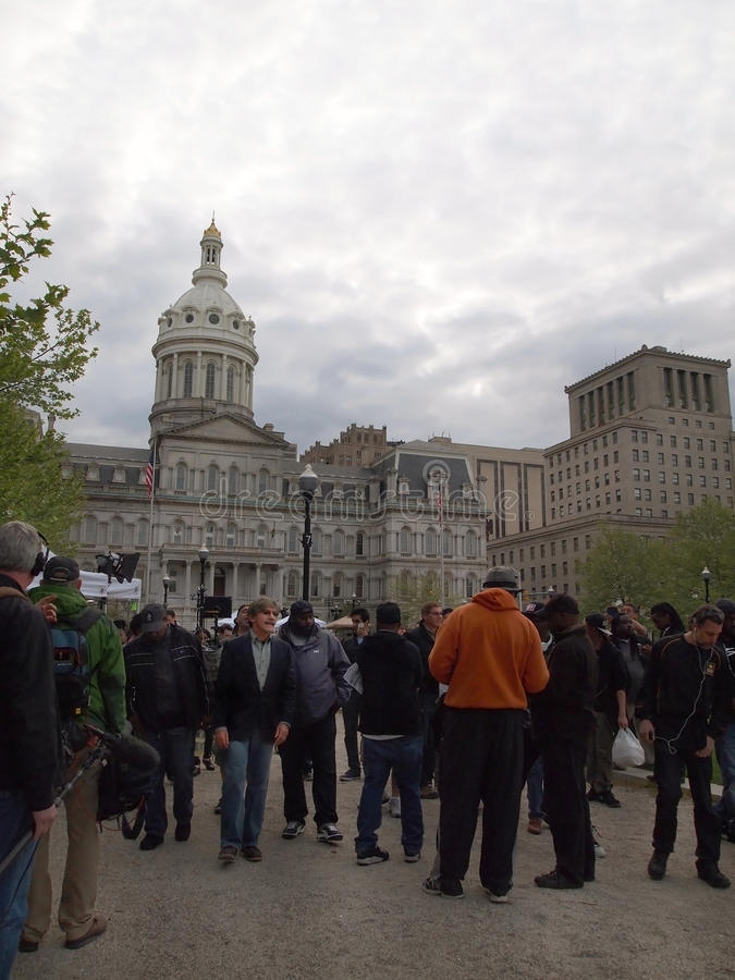 Geraldo Rivera in Baltimore stock afbeelding