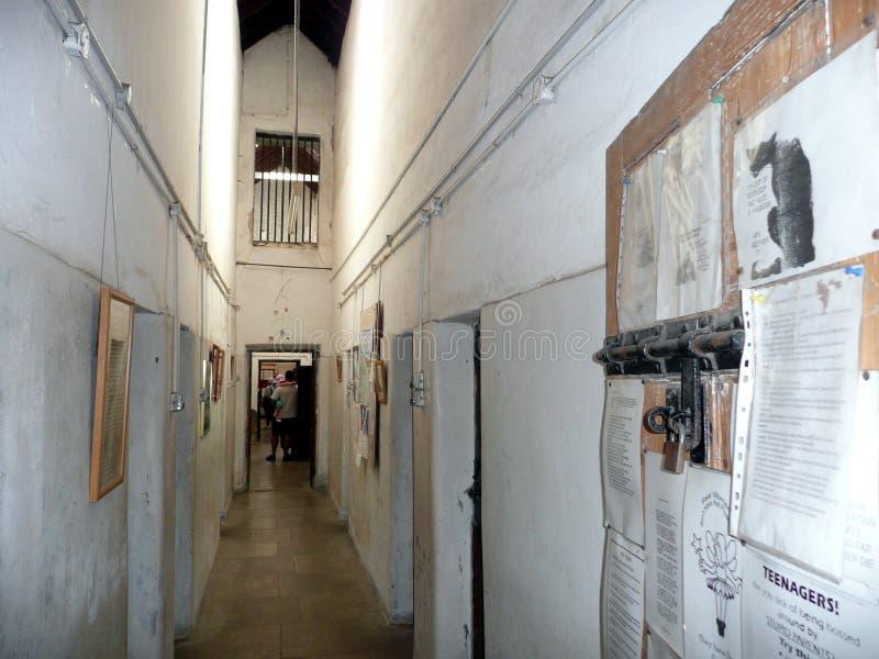 Geraldton, Westelijk 1 Australië-November, 2007: De binnenmening van Oude Geraldton-Gaol stock foto's