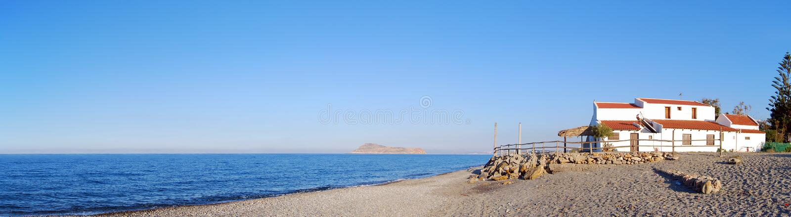 Gerani Beach Panorama Royalty Free Stock Images
