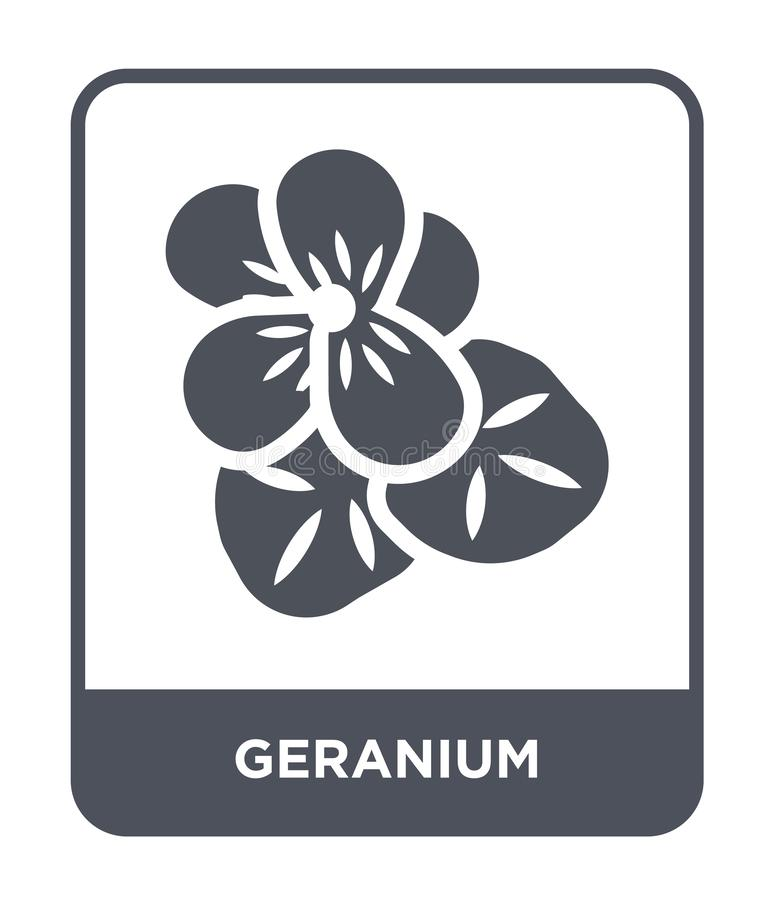 Geranium icon in trendy design style. geranium icon isolated on white background. geranium vector icon simple and modern flat. Symbol for web site, mobile, logo vector illustration