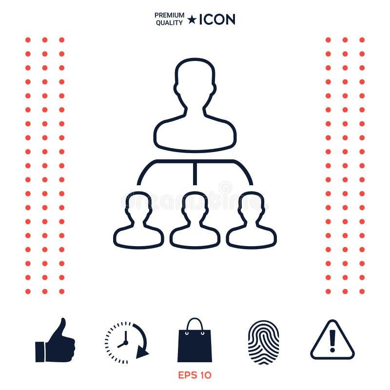 Download Gerarchia - linea icona illustrazione vettoriale. Illustrazione di struttura - 117975560