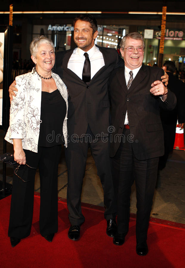 Gerard Butler. 12/9/2007 - Hollywood - Gerard Butler attends the World Premiere of `P.S. I Love You` held at the Grauman`s Chinese Theater in Hollywood royalty free stock images