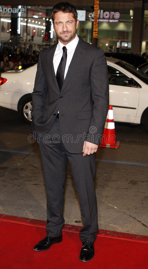 Gerard Butler. HOLLYWOOD, CALIFORNIA. Sunday December 9, 2007. Gerard Butler attends the World Premiere of `P.S. I Love You` held at the Grauman`s Chinese stock photos