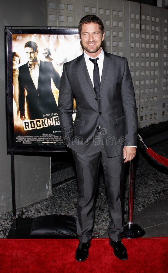 Gerard Butler. 06/10/2008 - Hollywood - Gerard Butler at the Los Angeles Premiere of `RocknRolla` held at the ArcLight Theater in Hollywood, California, United stock photos