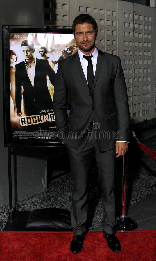 Gerard Butler. At the Los Angeles Premiere of `RockNRolla` held at the Arclight Theater in Los Angeles, California, United States on October 6, 2008 stock photography