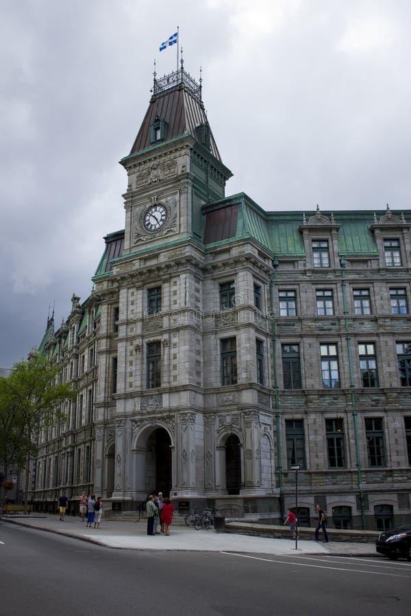Gerard d Levesque budynek w Quebec fotografia stock