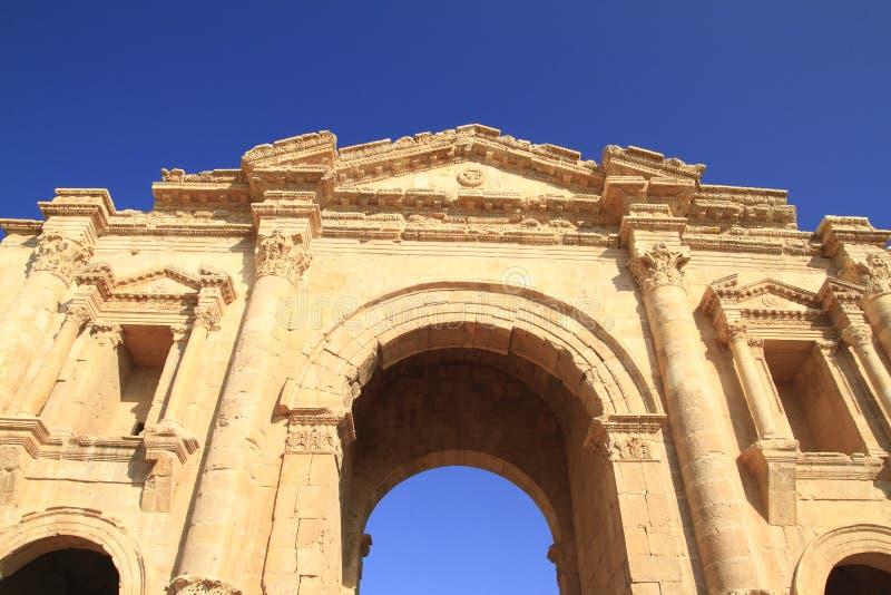 Gerasa. The ancient city of Gerasa in the north of Jordan stock photography