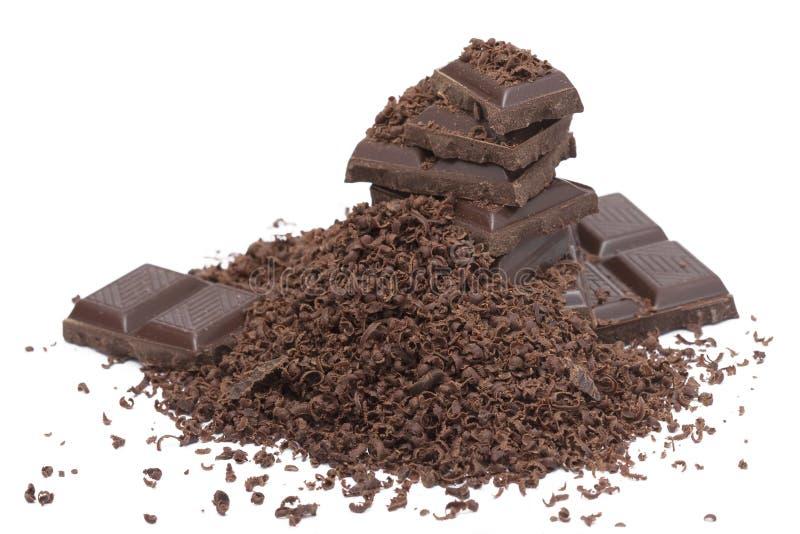 Geraspte Chocolade stock foto