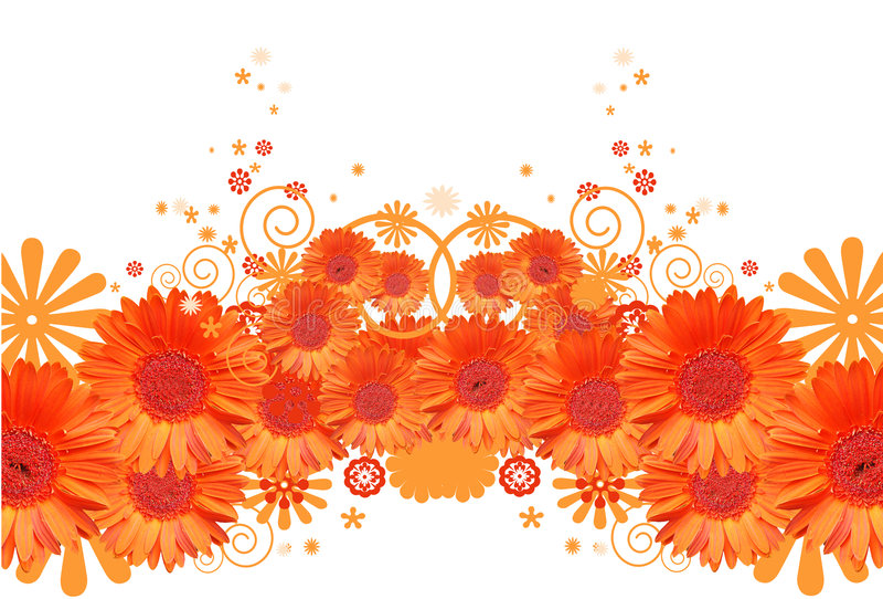 Gerbera daisy background stock illustration. Illustration ...