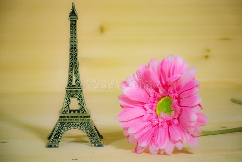 Gerbera rosado hermoso con las atracciones foto de archivo