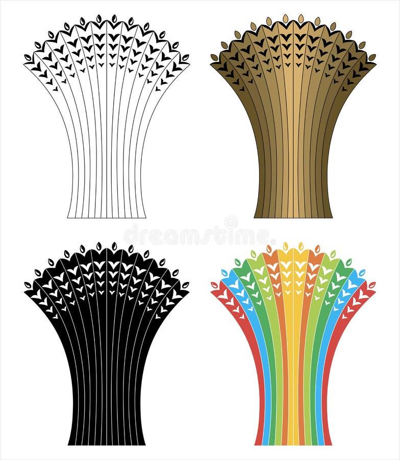 Gerbes créatives de blé illustration stock