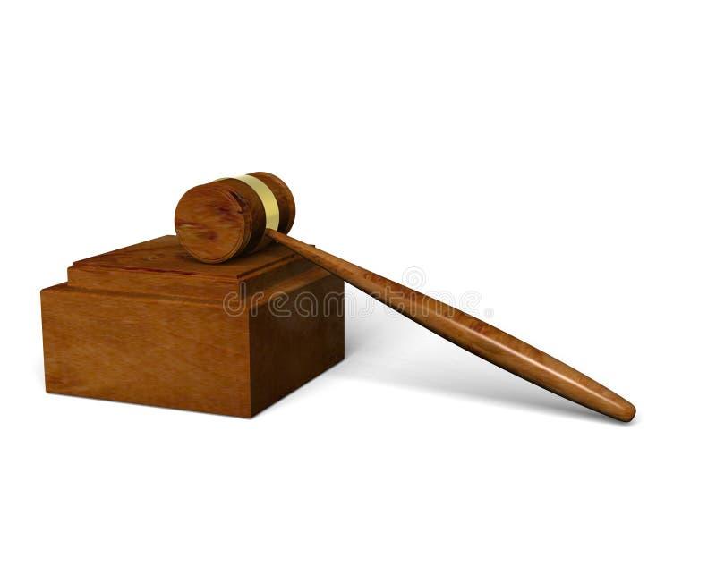 Gerechtelijke hamer stock illustratie