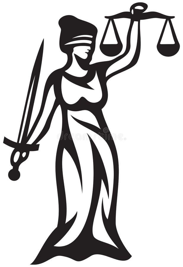 Gerechtigkeit vektor abbildung
