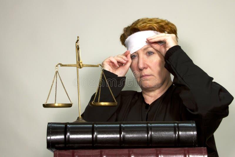 Gerechtigkeit aufgedeckt stockbilder