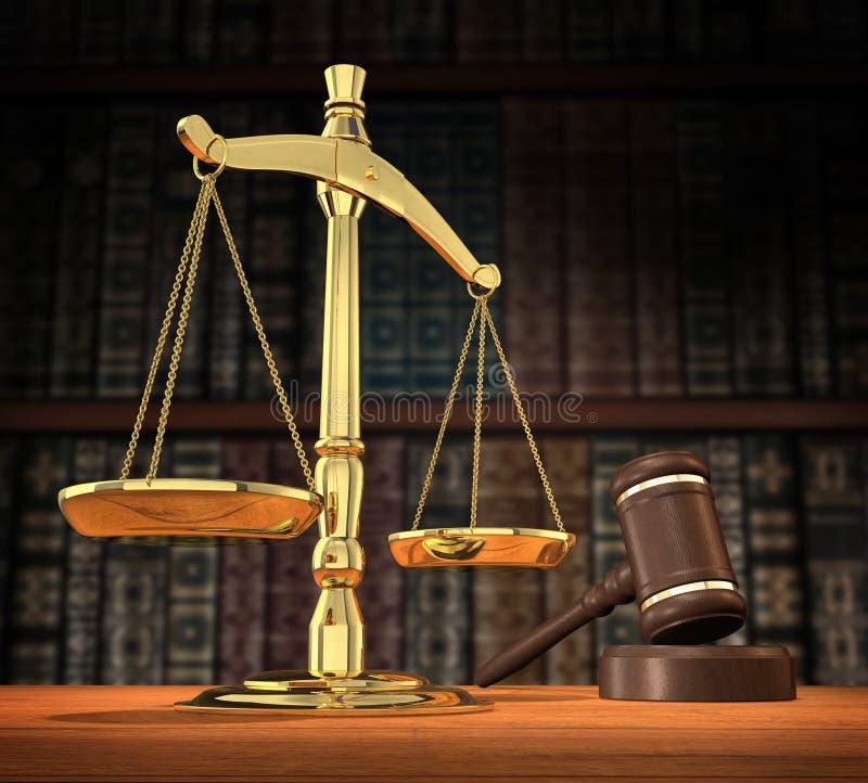 Gerechtigkeit wird gedient lizenzfreie abbildung