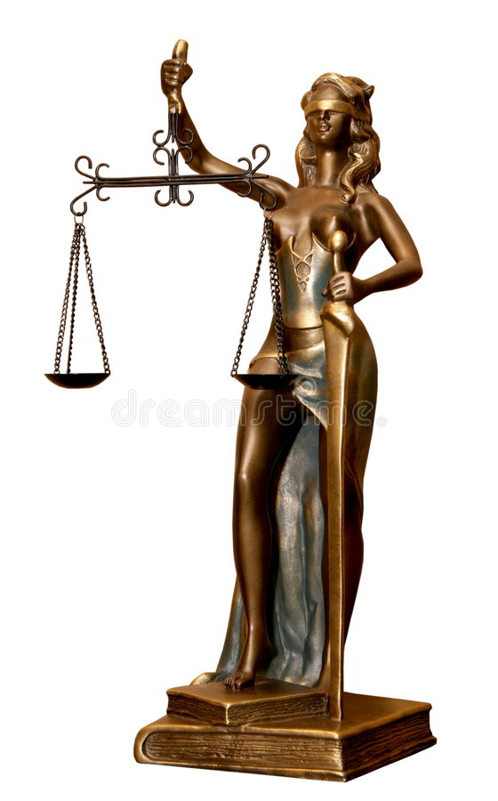 Gerechtigkeitgöttin Themis Statue 1 lizenzfreies stockfoto