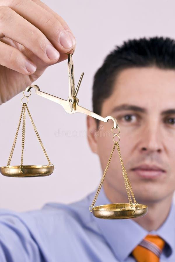 Gerechtigkeitskala lizenzfreies stockbild