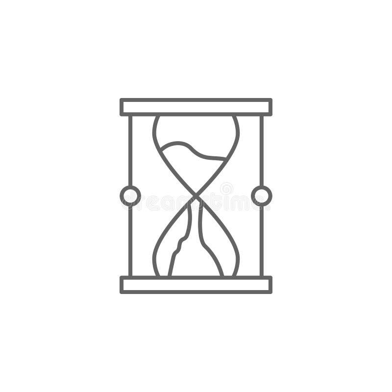 Gerechtigkeitssanduhr-Entwurfsikone Elemente der Gesetzesillustrationslinie Ikone Zeichen, Symbole und Vektoren können für Netz,  lizenzfreie abbildung