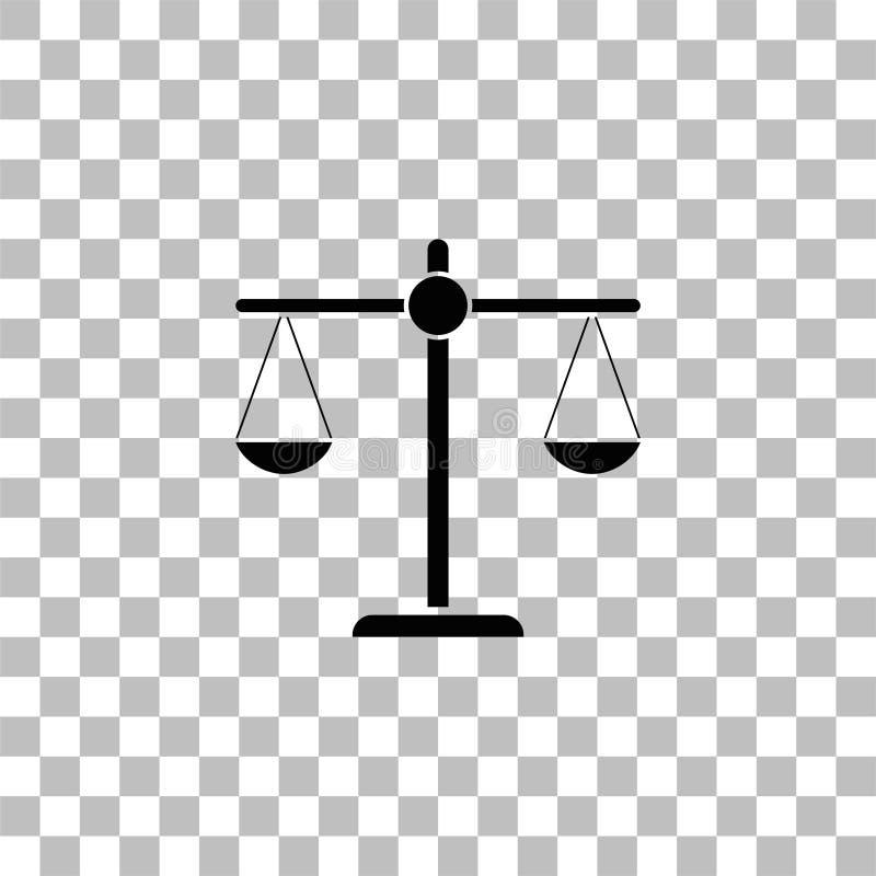 Gerechtigkeitsskalaikone flach stock abbildung