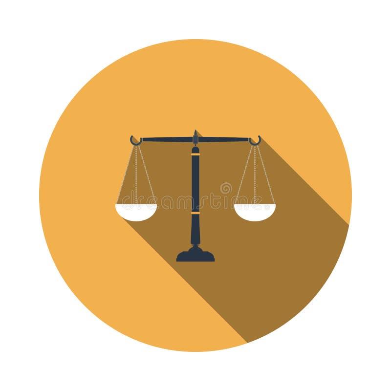 Gerechtigkeitsskalaikone lizenzfreie abbildung