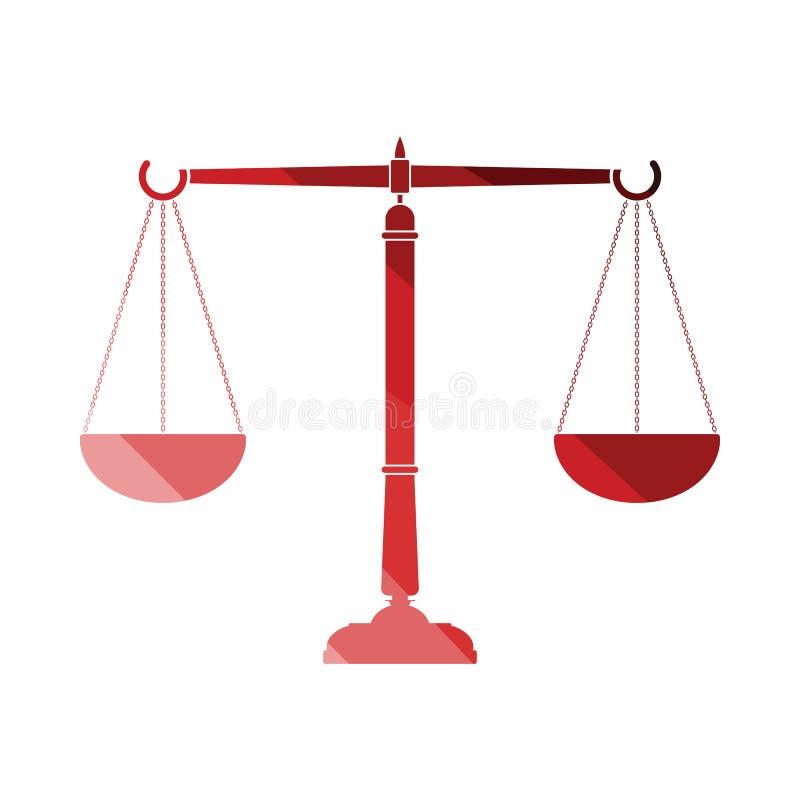 Gerechtigkeitsskalaikone vektor abbildung