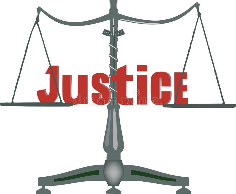 Gerechtigkeitssymbol stock abbildung