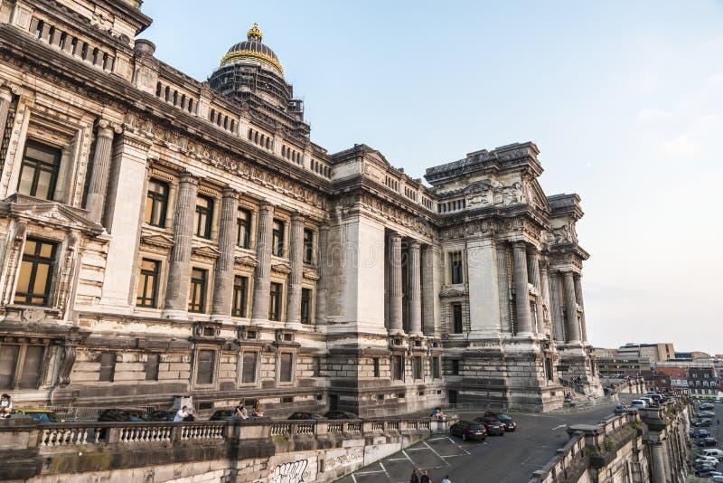 Gerechtsgebouw of Paleis van Rechtvaardigheid in Brussel, België stock fotografie