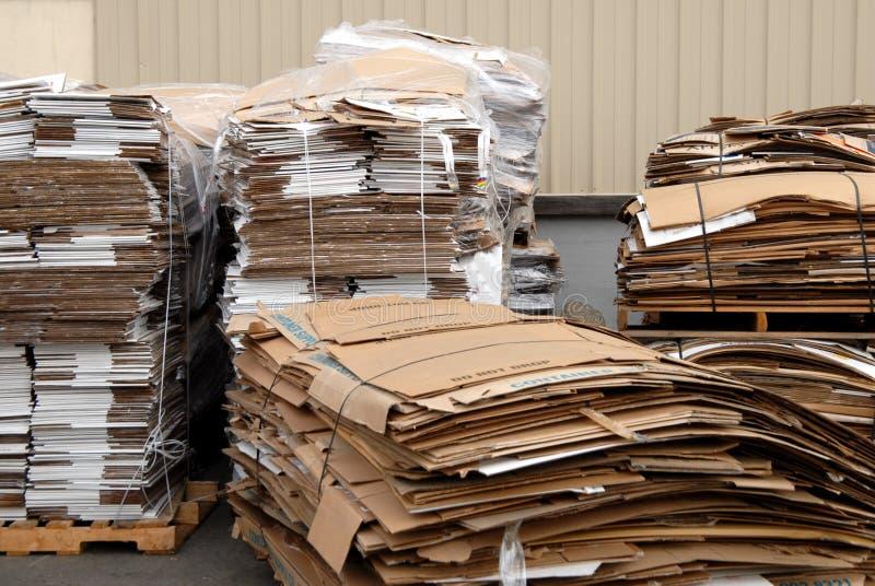 Gerecycleerd karton 2 stock afbeelding