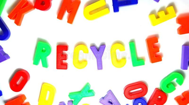 Gerecycleerd plastiek stock foto