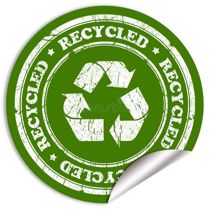 Gerecycleerde sticker royalty-vrije illustratie