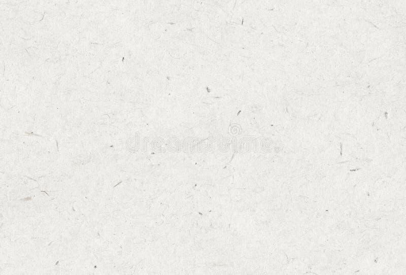 Gerecycleerde witte, grijze uitstekende horizontale notadocument textuur, lichte achtergrond stock fotografie