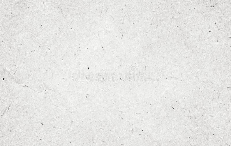 Gerecycleerde witte, grijze uitstekende horizontale notadocument textuur, lichte achtergrond stock afbeelding