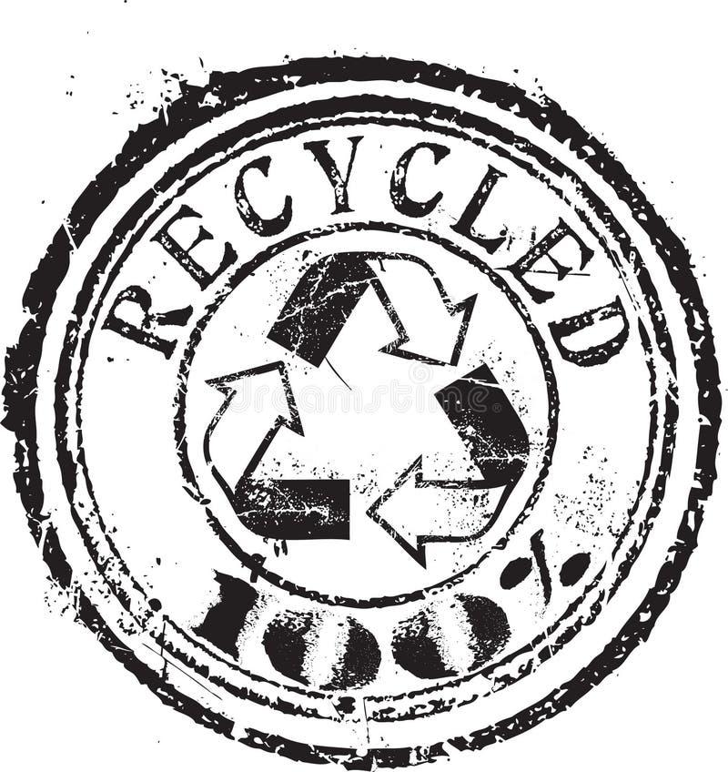 Gerecycleerde zegel royalty-vrije illustratie