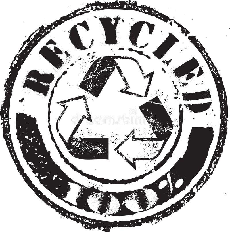 Gerecycleerde zegel stock illustratie