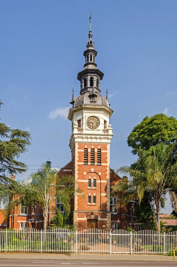 Gereformeerde Kerk, de oudste Nederlandse Opnieuw gevormde Kerk in Pretoria, Zuid-Afrika royalty-vrije stock foto