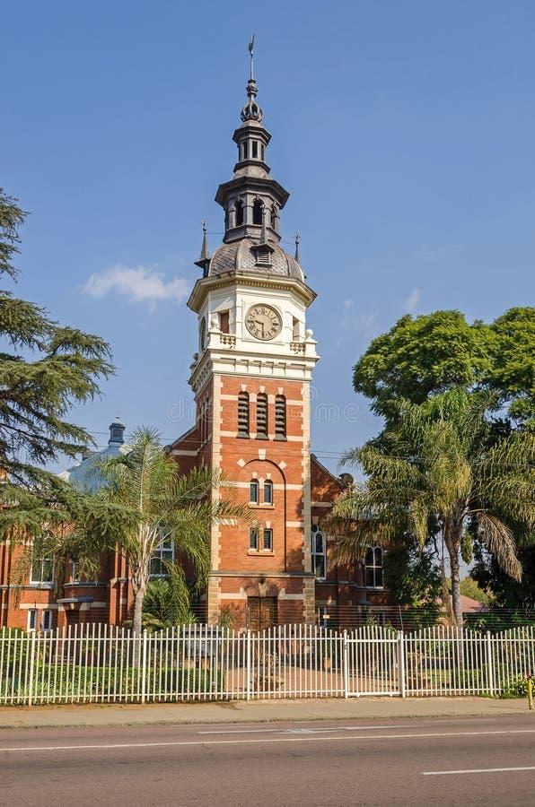Gereformeerde Kerk, de oudste Nederlandse Opnieuw gevormde Kerk in Pretoria, Zuid-Afrika stock foto
