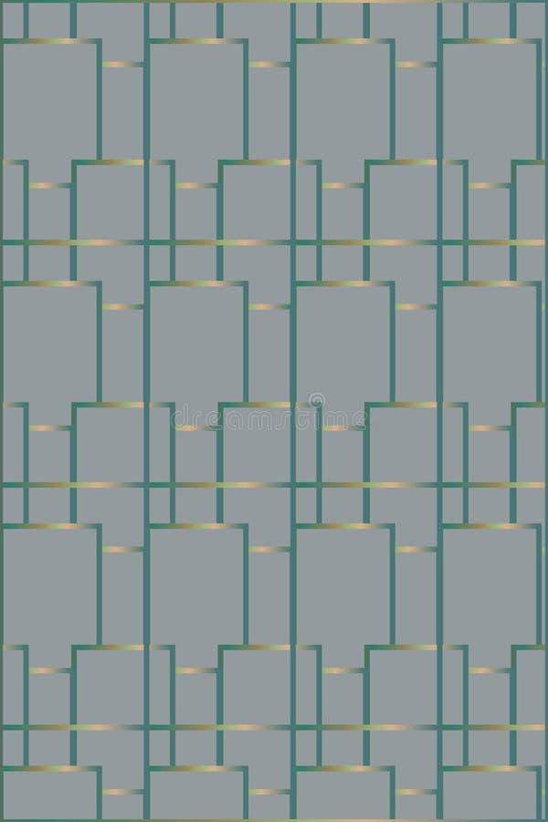 Geregeld Geometrisch Patroon vector illustratie