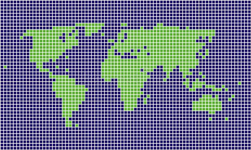Geregelde wereldkaart stock illustratie