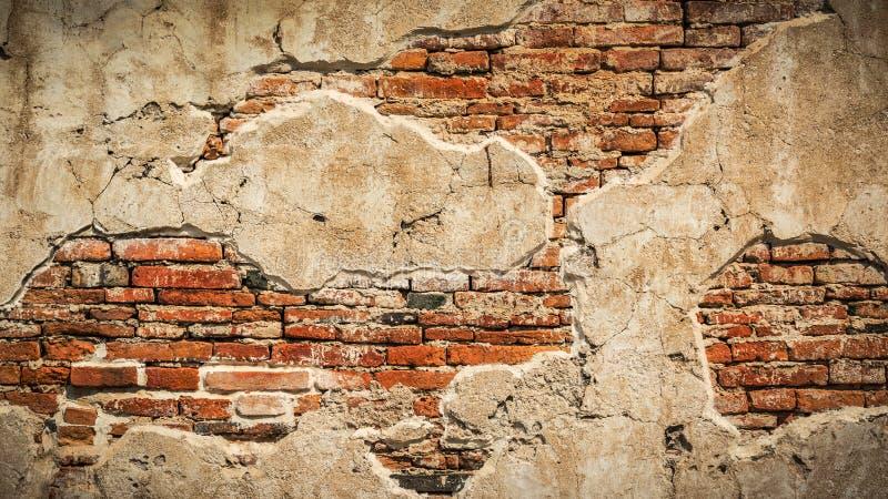 Gerekte concrete uitstekende muurachtergrond, oude muren royalty-vrije stock foto's