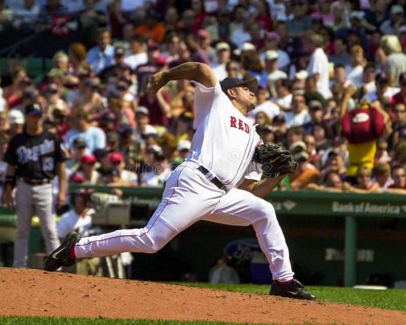 Geremi Gonzalez, Boston Red Sox miotacz obrazy royalty free