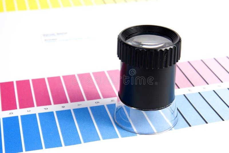 Gerencia de color - lupa imagen de archivo libre de regalías