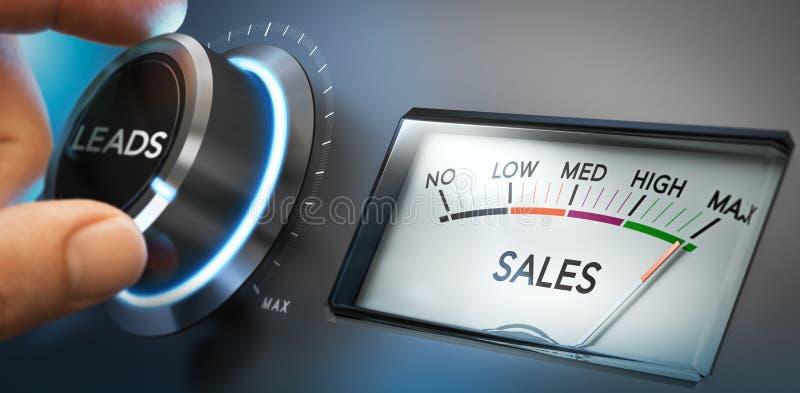 Gerencia mais ligações e vendas ilustração do vetor