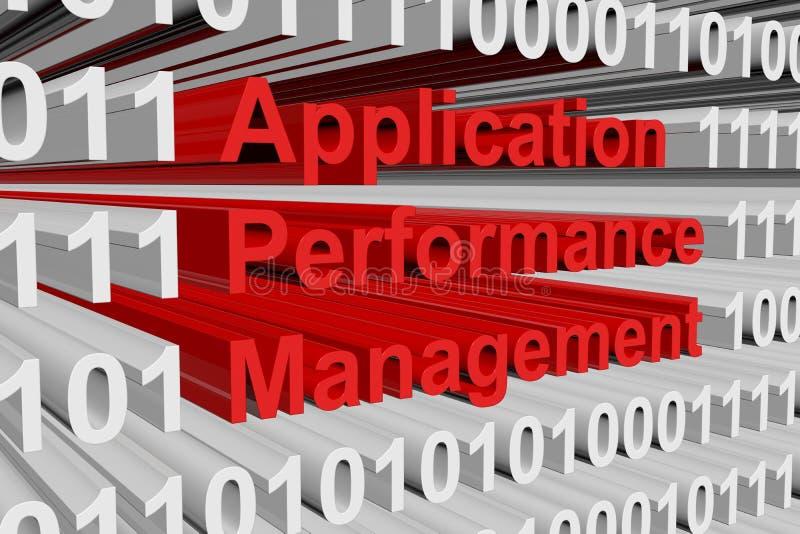 Gerenciamento de desempenho da aplicação ilustração do vetor