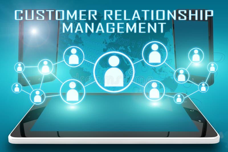 Gerenciamento de relacionamento com o cliente ilustração stock