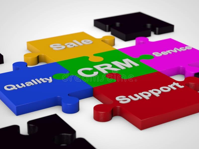 Gerenciamento de relacionamento com o cliente de CRM ilustração stock