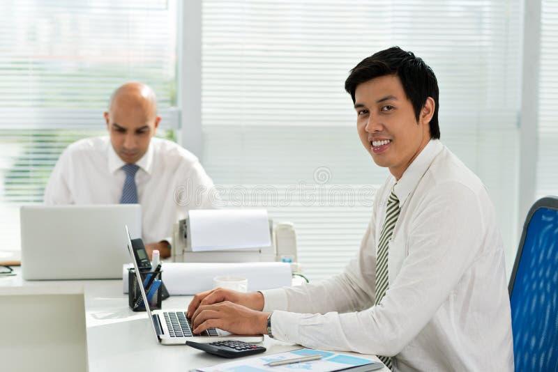 Gerente asiático imagem de stock royalty free