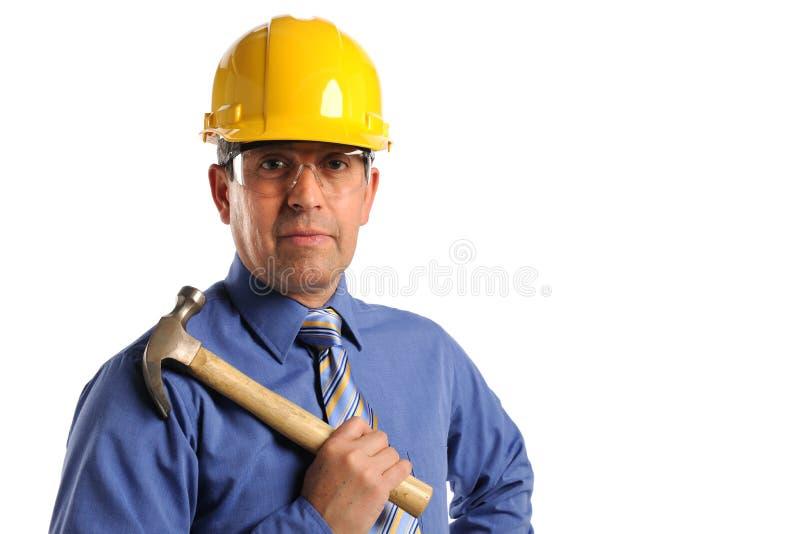 Gerente da construção foto de stock