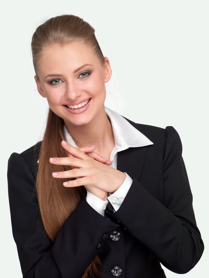 Gerente da mulher em um terno imagens de stock